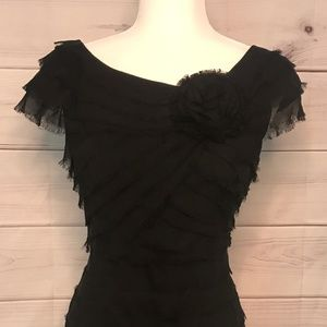 London Style Nights Black Cocktail Dress Woman's 8